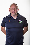 Forest Green Rovers Fitness Coach Graham Eastgate during the official team photocall for Forest Green Rovers at the New Lawn, Forest Green, United Kingdom on 29 July 2019.