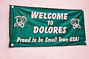 Welcome sign (small town USA), Dolores, Colorado