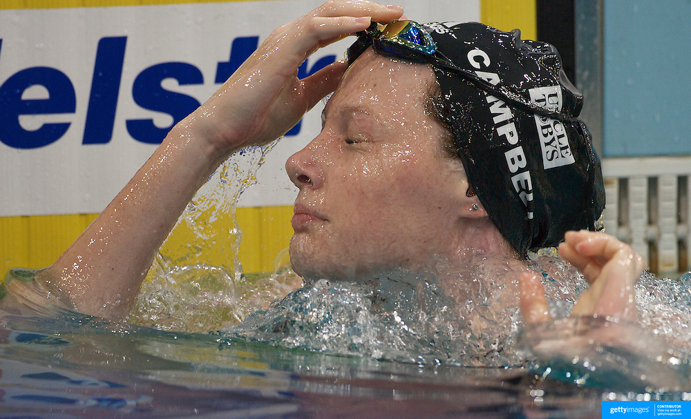 Cate Campbell in the 100m freestyle event during the Australian Swimming Championships and Selection Trials for the XIII Fina World Championships held at Sydney Olympic Park Aquatic Centre, Sydney, Australia on March 18, 2009. Photo Tim Clayton