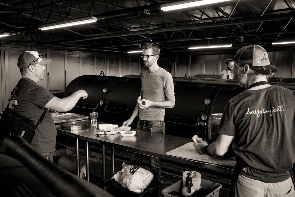 John Lewis, Pitmaster, Lewis Barbecue, Charleston, South Carolina. ©2017 Darren Carroll