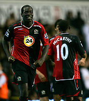 Photo: Tom Dulat.<br /> <br /> Tottenham Hotspur v Blackburn Rovers. The FA Barclays Premiership. 28/10/2007.<br /> <br /> Christopher Samba(L) scored second goal for Blackburn Rovers . Blackburn Rovers leads 2-1