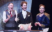 How to win against History <br />by Seiriol Davies<br />At The Young Vic, London, Great Britain <br />Press photocell  <br />1st December 2017 <br /><br />L to R:<br />Matthew Blake <br />Dylan Townley <br />Seiriol Davies<br /><br />Photograph by Elliott Franks <br />Image licensed to Elliott Franks Photography Services