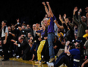 The fans go bananas in the final seconds of the game. The Lakers defeated the Boston Celtics in game 7 of the NBA Finals  83-79 in Los Angeles, CA 06/16/2010 (John McCoy/Staff Photographer).