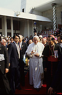 Pope John  Paul II visits Korea in May 1984...Photograph by Dennis Brack  bb22