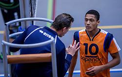 22-10-2016 NED: TT Papendal/Arnhem - Advisie SSS, Arnhem<br /> De Talenten winnen met 3-2 van SSS / Fabian Plak #10 of Talent Team