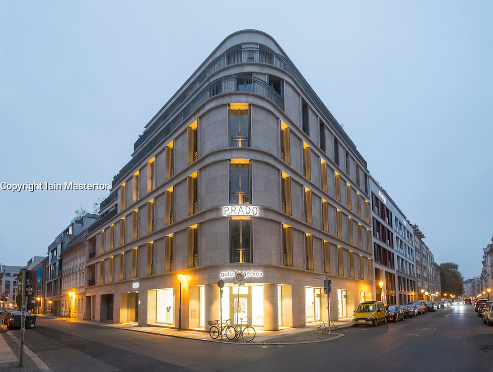 New Prado building on Linienstrasse, a mixed commercial and residential building in Mitte Berlin Germany