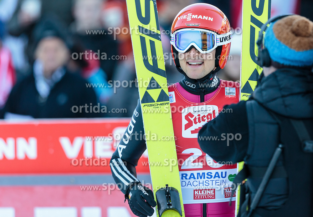 20.12.2015, Nordische Arena, Ramsau, AUT, FIS Weltcup Nordische Kombination, Skisprung, im Bild Tobias Haug (GER) // Tobias Haug of Germany during Skijumping Competition of FIS Nordic Combined World Cup, at the Nordic Arena in Ramsau, Austria on 2015/12/20. EXPA Pictures © 2015, PhotoCredit: EXPA/ JFK