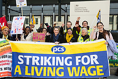 2019-04-10 BEIS PCS outsourced workers' strike