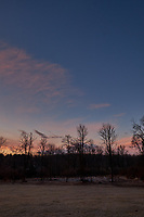 Winter Backyard Dawn Sky in New Jersey. Image 7 of 8 taken with a Fuji X-T1 camera and 16 mm f/1.4 lens (ISO 200, 16 mm, f/8, 1/60 sec). Raw images processed with Capture One Pro and the composite generated using AutoPano Giga Pro.