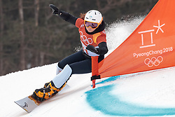24.02.2018, Phoenix Snow Park, Bokwang, KOR, PyeongChang 2018, Snowboard, Herren, Parallel Riesenslalom, im Bild Gloria Kotnik (SLO) // Gloria Kotnik of Slovenia during the men's Snowboard Parallel Riesenslalom, qualification of the Pyeongchang 2018 Winter Olympic Games at the Phoenix Snow Park in Bokwang, South Korea on 2018/02/24. EXPA Pictures © 2018, PhotoCredit: EXPA/ Johann Groder