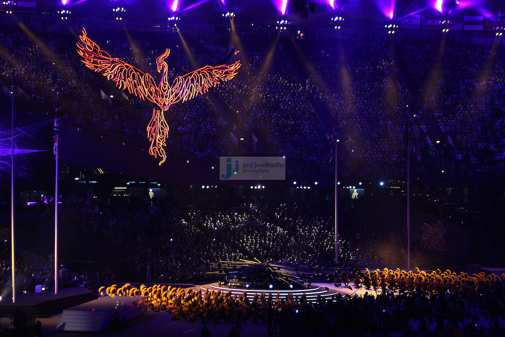 The Olympic Flame is extinguished during Closing Ceremonies during day 16 of the London Olympic Games in London, England, United Kingdom on August 12, 2012..(Jed Jacobsohn/for The New York Times)..