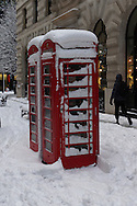 Phone boxes in the City of London 2 Feb 2009