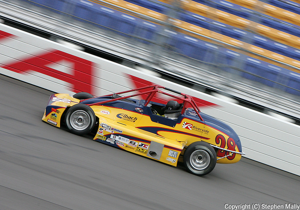 05 MAY 2007: Tim Barber (28) of Pierson Racing practices in his Silver Crown car before the Casey's General Stores USAC Triple Crown at the Iowa Speedway in Newton, Iowa on May 5, 2007.