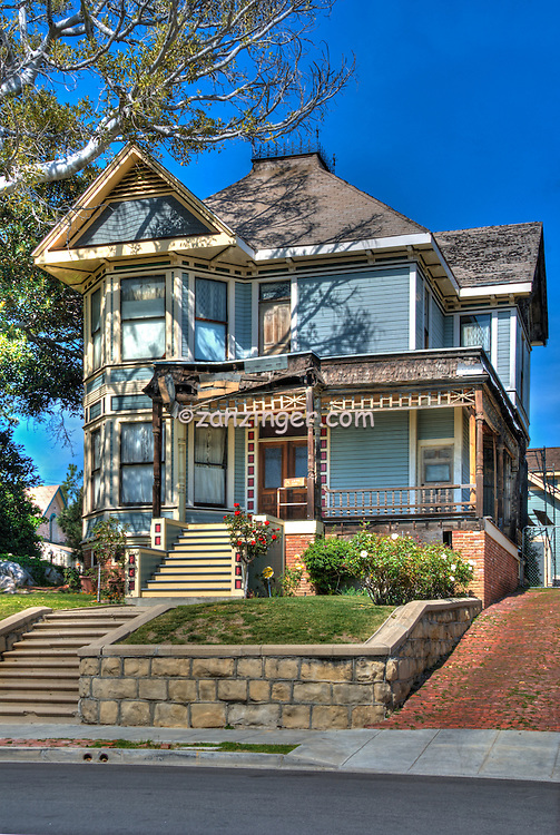 """Michael Jackson, """"Thriller House"""", Angelino Heights,  Los Angeles, CA, Echo Park, district, well-kept, Victorian era, residences, California"""