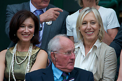 LONDON, ENGLAND - Saturday, June 26, 2010: Former Wimbledon winner Martina Navratilova in the Royal Box on Centre Court on day six of the Wimbledon Lawn Tennis Championships at the All England Lawn Tennis and Croquet Club. (Pic by David Rawcliffe/Propaganda)