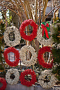 Gullah popcorn berry Christmas wreaths on sale in Charleston, SC.