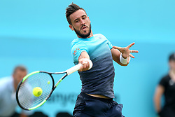 Bosnia and Herzegovina's Damir Dzumhur during day two of the Fever-Tree Championship at the Queens Club, London.