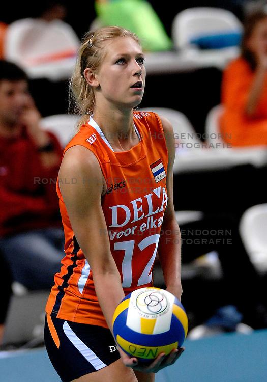14-09-2007 VOLLEYBAL: NEDERLAND - KROATIE: ALMERE<br /> Nederland wint met 3-1 van Kroatie - Manon Flier<br /> &copy;2007-WWW.FOTOHOOGENDOORN.NL