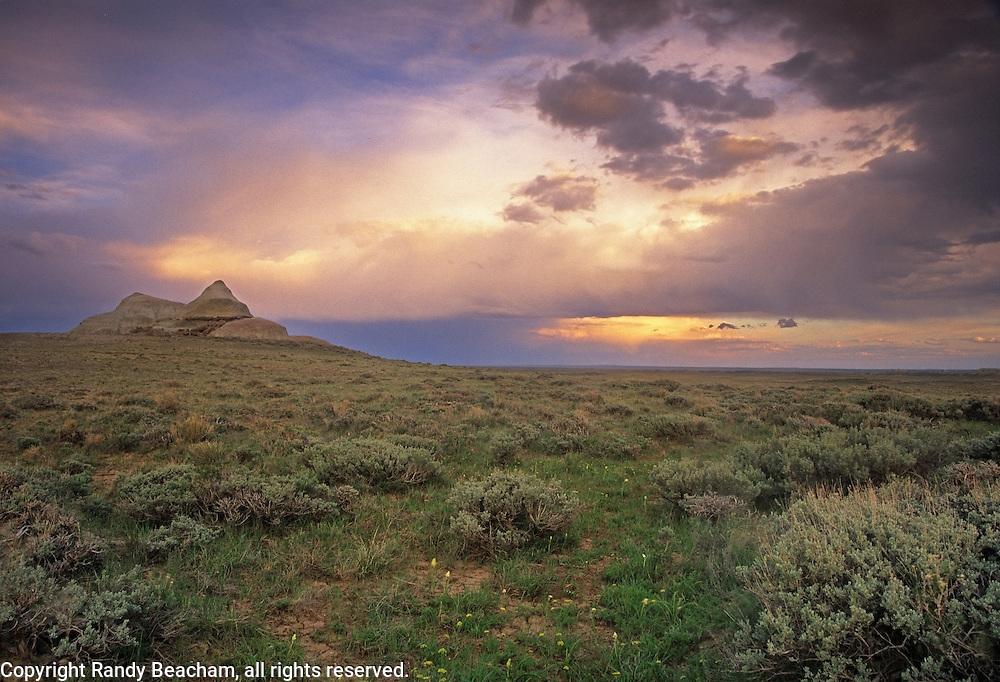 Oregon Buttes Wilderness Study Area in the Red Desert. Great Divide Basin, Wyoming