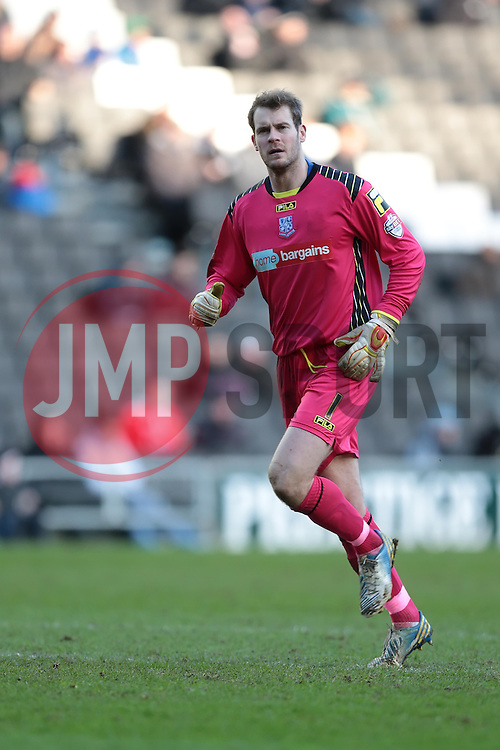 Tranmere Rovers' Owain Fon Williams - Photo mandatory by-line: Nigel Pitts-Drake/JMP - Tel: Mobile: 07966 386802 01/02/2014 - SPORT - FOOTBALL - Stadium MK - Milton Keynes - MK Dons v Tranmere Rovers - Sky Bet League One