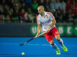 England's Nick Catlin. England v Germany - Semi-Final Unibet EuroHockey Championships, Lee Valley Hockey & Tennis Centre, London, UK on 27 August 2015. Photo: Simon Parker