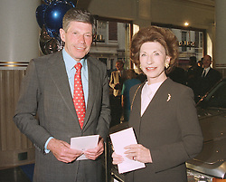 MR JOHN STERLING and RUTH, LADY WOLFSON at a party in London on April 17th 1997.LXT 17
