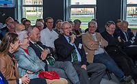UTRECHT -  Lout Mangelaar Meertens met oa Rolf Olland,    Algemene Ledenvergadering van de Nederlandse Golf Federatie NGF.   COPYRIGHT KOEN SUYK