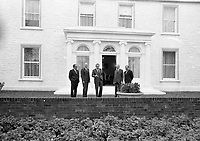 American President Richard Nixon in Co Kildare, he stayed at Kilfrush House, 05/10/1970 (Part of the Independent Newspapers Ireland/NLI Collection).