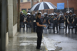 June 7, 2017 - Valencia, Carabobo, Venezuela - Students, political parties and civil society marched to the headquarters of the National Electoral Council (CNE) to protest once again against the constituent President Nicolas Maduro wants to impose. In Valencia, Carabobo state. Photo: Juan Carlos Hernandez (Credit Image: © Juan Carlos Hernandez via ZUMA Wire)