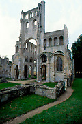 France, Normandy.  Jumieges, Ruins of Abbey
