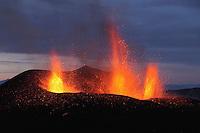 FimmvÜrduhalsi Eruption 2010  Lavafountains  Iceland