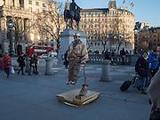 Floating men, Trafalgar Sq. , London, 18 February 2016