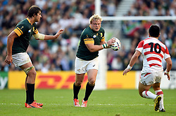 Adriaan Strauss of South Africa in possession - Mandatory byline: Patrick Khachfe/JMP - 07966 386802 - 19/09/2015 - RUGBY UNION - Brighton Community Stadium - Brighton, England - South Africa v Japan - Rugby World Cup 2015 Pool B.