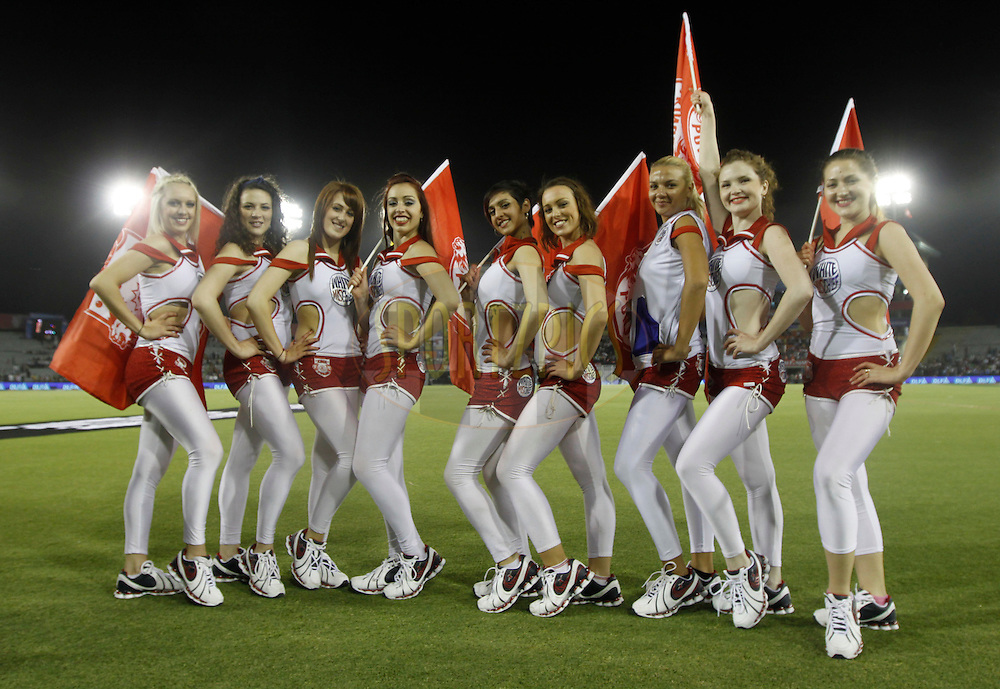 Kings XI Punjab Cheerleaders during match 9 of the Indian Premier League ( IPL ) Season 4 between the Kings XI Punjab and the Chennai Super Kings held at the PCA stadium in Mohali, Chandigarh, India on the 13th April 2011..Photo by Pankaj Nangia/BCCI/SPORTZPICS