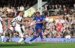 23.10.2011, Craven Cottage, London, ENG, PL, FC Fulham vs FC Everton, im Bild Everton's Jack Rodwell scores his side's third goal // during the Premier League match between FC Fulham vs FC Everton, at Craven Cottage stadium, London, United Kingdom on 23/10/2011. EXPA Pictures © 2011, PhotoCredit: EXPA/ Propaganda Photo/ Chris Brunskill +++++ ATTENTION - OUT OF ENGLAND/GBR+++++