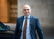 The Andrew Marr Show <br /> at the BBC, Broadcasting House, London, Great Britain <br /> 9th September 2018 <br /> <br /> Sajid Javid MP <br /> Home Secretary <br /> <br /> <br /> <br /> Photograph by Elliott Franks
