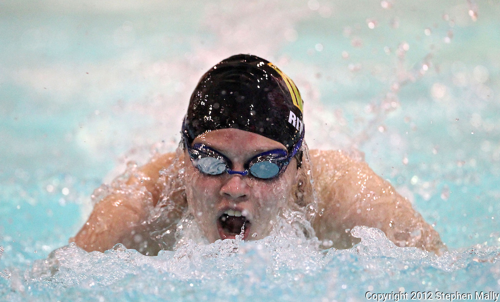 Iowa City West's Sarah Ritchie competes in the 100 yard butterfly event during the MVC Girls Swimming Championships at Washington High School in Cedar Rapids on Saturday October 13, 2012. Ritchie placed sixth in the event with a time of 1:05.81.