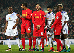 Emre Can of Liverpool waits patiently in a group for a corner to be taken - Mandatory by-line: Matt McNulty/JMP - 26/11/2016 - FOOTBALL - Anfield - Liverpool, England - Liverpool v Sunderland - Premier League