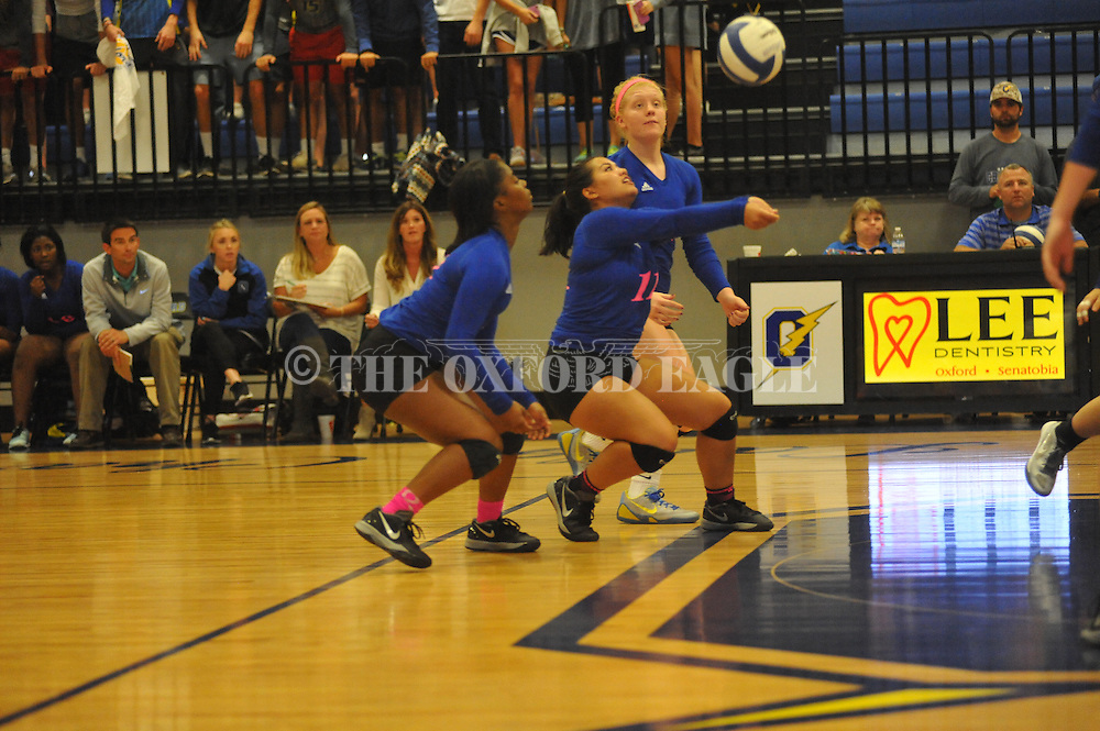 Oxford High's Summer Batoon (11) vs. Center Hill in MHSAA Class 5A playoff action in Oxford, Miss. on Tuesday, October 20, 2015.