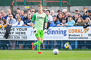 Leeds United goalkeeper Bailey Peacock Farrell (1) in action during the Pre-Season Friendly match between Guiseley  and Leeds United at Nethermoor Park, Guiseley, United Kingdom on 11 July 2019.