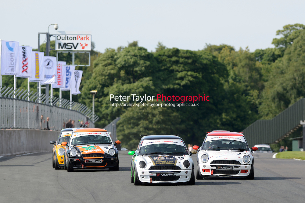 #3 Joe Tanner Mini Cooper during Celtic Speed Scottish Mini Cooper Cup Race 2 as part of the Mini Festival  at Oulton Park, Little Budworth, Cheshire, United Kingdom. August 08 2015. World Copyright Peter Taylor. Copy of publication required for printed pictures.  Every used picture is fee-liable. http://archive.petertaylor-photographic.co.uk