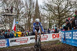 Ryan TREBON (16,USA), 7th lap at Men UCI CX World Championships - Hoogerheide, The Netherlands - 2nd February 2014 - Photo by Pim Nijland / Peloton Photos