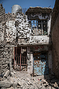 9 August 2018 – Mosul – Iraq – Destroyed buildings in Bab al-Jaded neighbourhood in Ghizlani, West Mosul.<br /> <br /> © UNDP Iraq / Claire Thomas