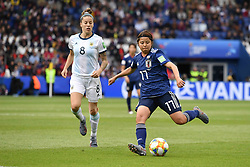 June 10, 2019 - Paris, ile de france, France - Rikako KOBAYASHI (JPN) and Ruth BRAVO (ARG) in Action during the match between Argentina and Japan at the 2019 World cup  on June 10, 2019, at the Parc des Princes stadium in Paris, France. (Credit Image: © Julien Mattia/NurPhoto via ZUMA Press)