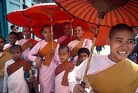 women monks in Yangon (Rangoon), Myanmar (Burma)<br /> Photo by Owen Franken