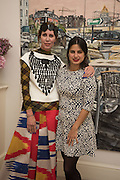 VALERIA NAPOLEONE; SOL CALERO, Valeria and Gregorio Napoleone and Joe Scotland host a dinner at therir home in Kensington  in celebration of Sol  Calero's commission at Studio Voltaire.  London. 13 October 2015