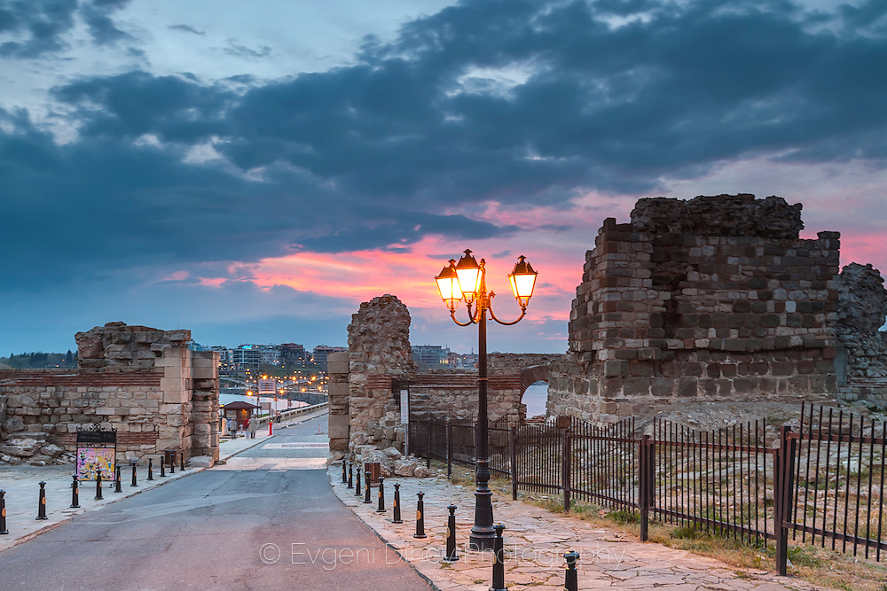 Ancient Nessebar at Sunset