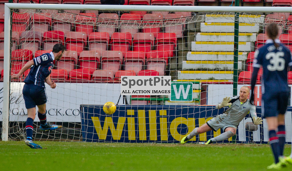 Dunfermline Athletic v Ross County Scottish Cup Season 2015/16 East End Park 09 December 2015<br /> Brian Graham makes it 2-1 <br /> CRAIG BROWN | sportPix.org.uk
