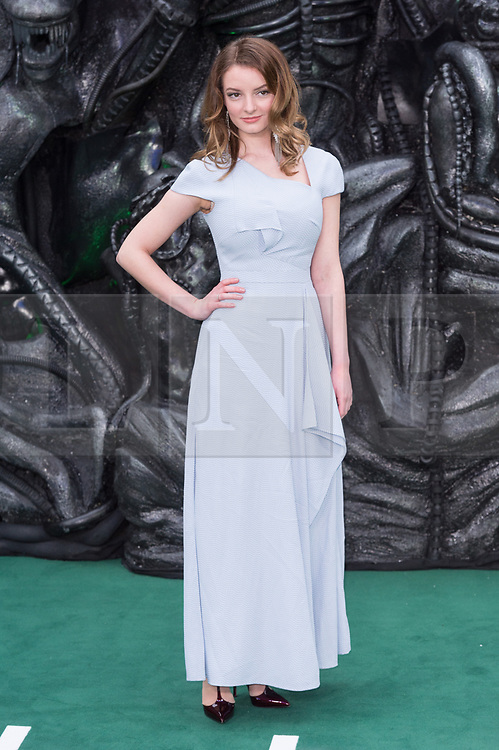 © Licensed to London News Pictures. 04/05/2017. London, UK. DAKOTA BLUE RICHARDS attends the Alien: Covenant world film premiere. Photo credit: Ray Tang/LNP