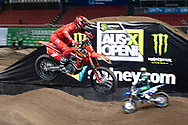 SYDNEY, NSW - NOVEMBER 09: Justin Brayton (1) during the 2018 AUS-X Open Supercross media day at Qudos Bank Arena in Sydney, Australia on November 09, 2018. (Photo by Speed Media/Icon Sportswire)